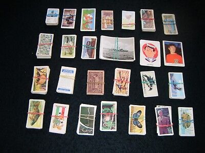 A Job Lot Of Various Part Sets Of Teacards & Trade Cards Etc.: Vintage