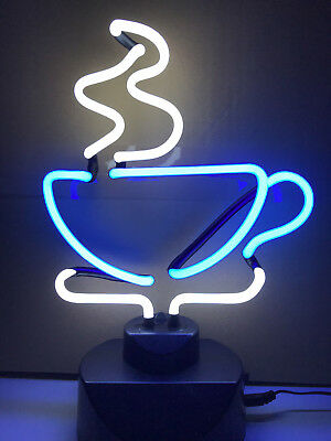 Tee Tasse Neonleuchte Cup Tea Time Neon sign Neonreklame Reklame retro cult