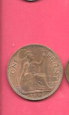 Great Britain Gb Uk Km897 1962 Vf-Very Nice Old Vintage Large Penny Coin