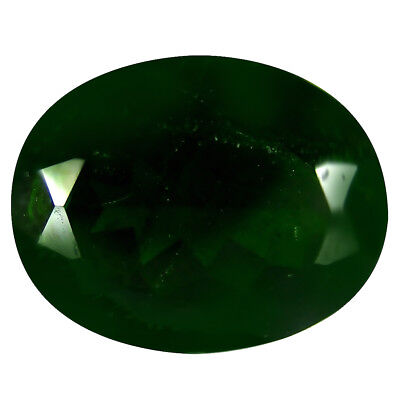 6.76 Ct AAA Grand Style Forme Ovale (14 X 11 mm) Vert Chrome Diopside