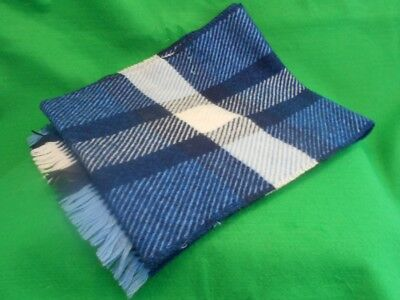 St. Michael All Wool Plaid Scarf Vintage Made in Scotland Free P+P
