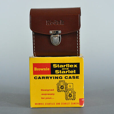 Kodak Brownie Starflex Starlet Leather Carrying Case in Orig Box NOS
