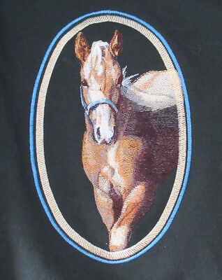 Embroidered Ladies Short-Sleeved T-Shirt - Palomino Horse BT4457 Sizes S - XXL