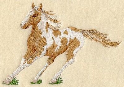 Embroidered Ladies Short-Sleeved T-Shirt - Paint Horse A9065 Sizes S - XXL