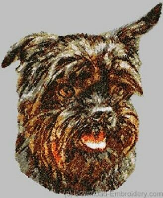 Large Embroidered Zippered Tote - Affenpinscher DLE1454