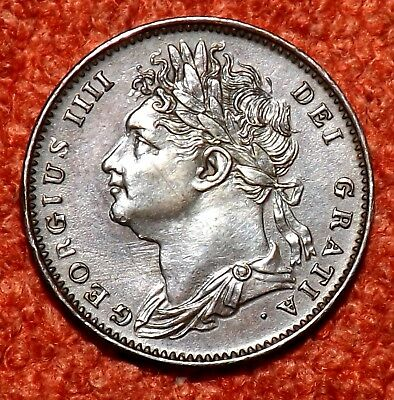 1822 George IV Farthing -  GOOD / HIGH Collectable Grade & Detail
