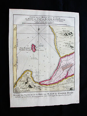 1754 BELLIN - rare map of AFRICA SOUTHERN, ROBBEN ISLAND, CAPE of GOOD HOPE