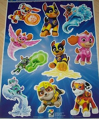 Nickelodeon Paw Patrol Dogs Halloween Cling Decoration REusable Vinyl Clings