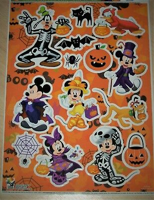 Disney Mickey Minnie Mouse Halloween Cling Decoration REusable Vinyl Clings
