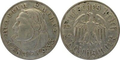 2 Reichsmark 1933 A Luther  ss. #31152