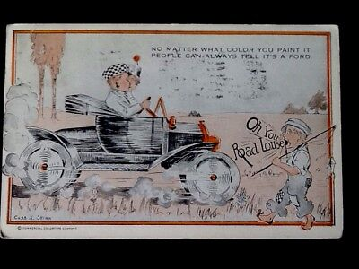 "c1917 Ford Automobile Comic ""No Matter What Color You Paint"" Vintage WB Postcard"