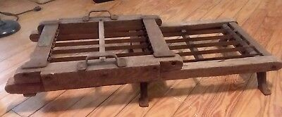 Antique Thomas Mills & Brother Hard Candy Cutter Oak Frame Steel Blades