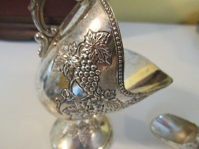 Vintage Sugar Scuttle - Silver Plate - With Scoop- Made In Japan
