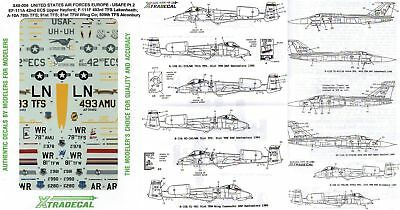 Xtradecal Nr.X48-006 USAFE Pt 2 EF-111A, F-111F & A-10A1/48