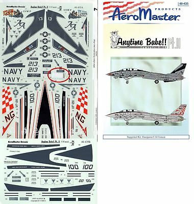 "Aeromaster Decal Nr.48-435 F-14A Tomcat`s ""Anytime Babe"" Pt.II 1/48"