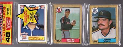 1987 Topps BASEBALL CARD Unopened Rack Pack VALENZUELA,FINLEY,LARKIN Rc! Showing