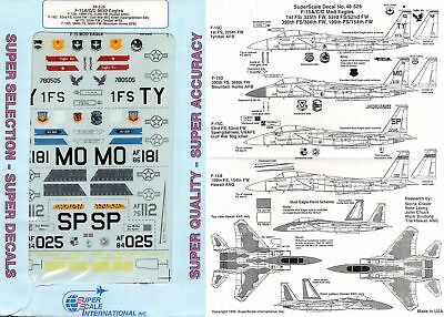 Superscale Decal 48-528 F-15A/C/D Mod Eagles TY, MO, SP, Hawaii 1/48