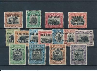 [32982] North Borneo Red Cross Good lot Very Fine MH stamps