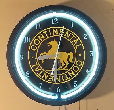Continental Tire Neon Electric Wall Clock by Image Time Made In The U.S.A.