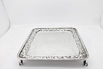 Antique Early 1800's Warner Baltimore Coin Silver Square Claw Footed Salver
