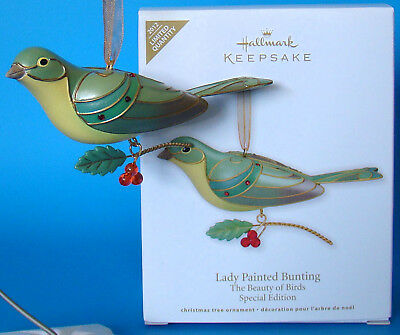 New Lady Painted Bunting Beauty Birds Limited Series Hallmark Christmas Ornament