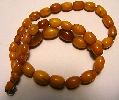 Antique Butterscotch Egg Amber Necklace....15g