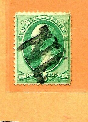 1800s US Stamp w/ Fancy Cancel:  Monogram NL [=New  London, CT] Cole #ML-74a..T4