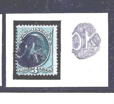 Us #158 ~ Fancy Whitewater, Wisc. Cancel ~ Negative 'ok' / Cole #ok-48 ----[Mb6]