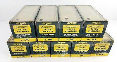 Argus No. 593 Lot of 9 Slide Magazine Trays for Changer Hold 36 2x2""