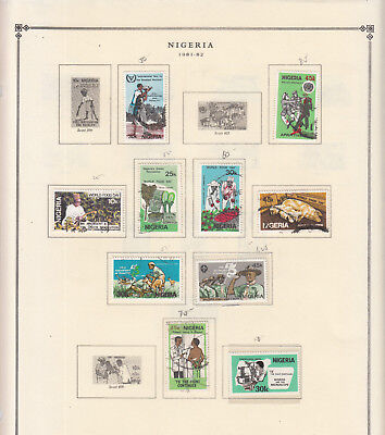 Nigeria - 1981/1986 stamp collection on double-side Scott pages