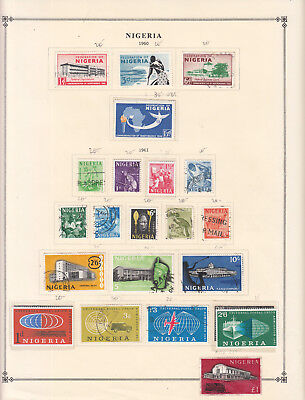 Nigeria - 1960/1965 stamp collection on double-side Scott pages