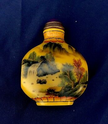 Antique Chinese Peking Glass Handmade Snuff Bottle