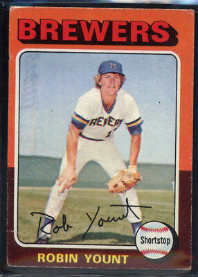 1975 Topps #223 Robin Yount Rookie HOF Brewers (VG) *686671