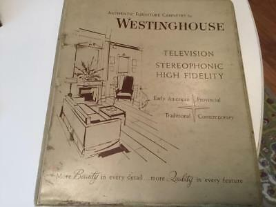 Vintage 1950s Westinghouse Looseleaf Catalog- pictures of televisions, stereos,