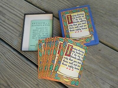 14 Antioch bookplates in box