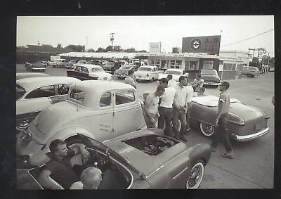 Real Photo Hutchinson Kansas A&w Root Beer Stand Old Cars Postcard Copy