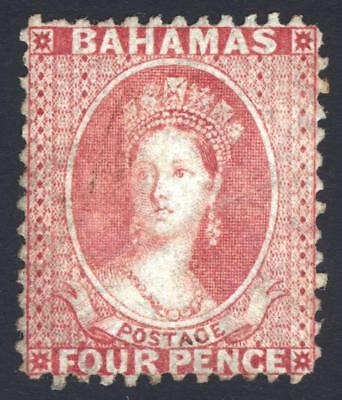 Bahamas 1863 4d Dull Rose Wmk CC REVERSED SG 27x Scott 13 LMM/MLH Cat £375($492)