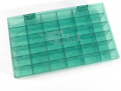 Plastic Film chip sorting box for Stereo Realist slides - green transparent - BC
