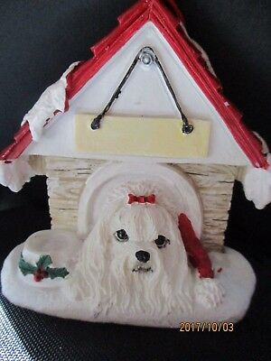 Maltese Color    ~ Doghouse  Ornament  ~   24