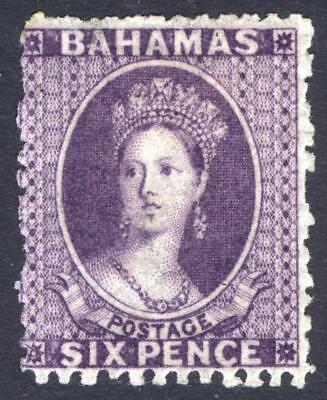 Bahamas 1863 6d Violet Analine Wmk CC P12.5 SG 32 Scott 14a MM/MH Cat £250($328)