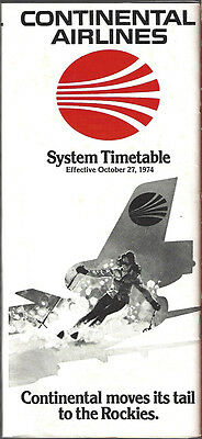 Continental Airlines system timetable 10/27/74 [7084]