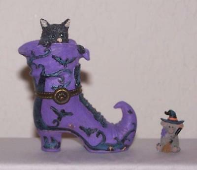 Boyds Treasure Box - Halloween - Tabitha's Boot with Witchie McNibble - 1E