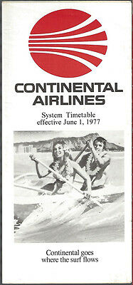 Continental Airlines system timetable 6/1/77 [7084]