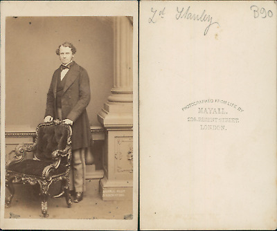 Mayall, London, Lord Stanley, Earl of Derby Vintage albumen print CDV. Tirag