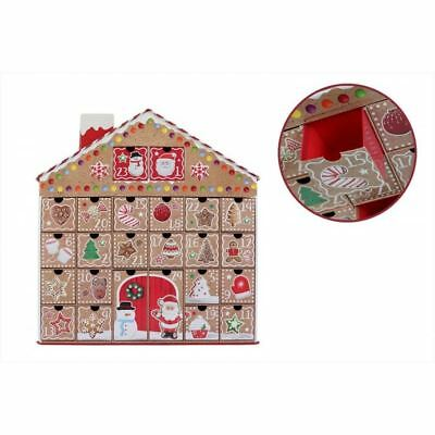 3D Gingerbread House Christmas Advent Calendar With Pull Out Date Gift Boxes