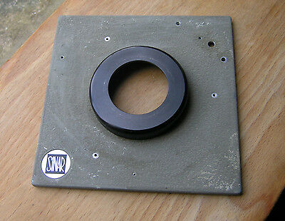 genuine Sinar Norma  F & P  lens board panel with copal compur 1 hole  11mm step