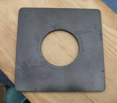 "earlier Devere 10 x 8 enlarger Lens board used 6"" 15cm sq 65.4mm hole"