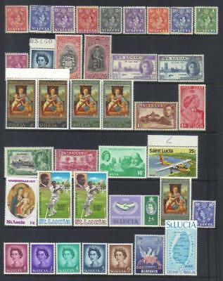 St Lucia Mainly Mnh Selection