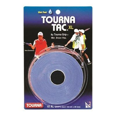 Tourna Tac Tennis Racquet Over Grip 10 XL Blue Overgrips Absorbent Tacky Feel