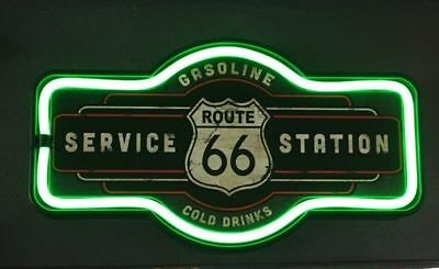 Route 66 Service Station LED Licht /Neon  - ca. 44 x 23 cm - neu + ovp